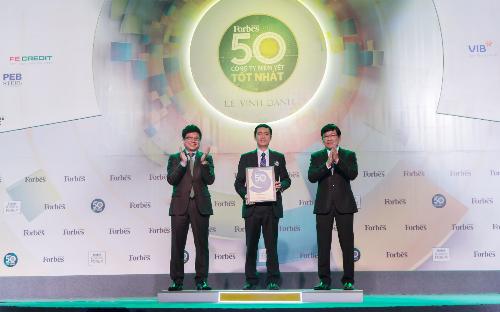 Lần thứ 6 liên tiếp, Đất Xanh xuất sắc được vinh danhTop 50 công ty niêm yết tốt nhất Việt Nam (khách xin edit, cảm ơn chị Tuyết Anh) - 1