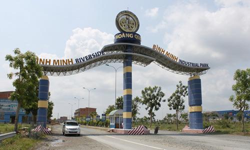 Khu công nghiệp Bình Minh tại Vĩnh Long. Ảnh: H.Q