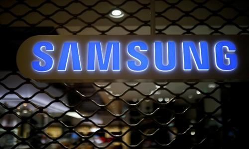 Logo Samsung Electronics tại văn phòng của hãng ở Seoul. Ảnh: Reuters