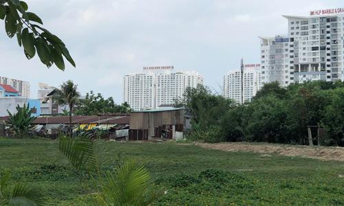 Một góc khu đất 32ha Quốc Cường Gia Lai mua hụt từ Công ty Tân Thuận và bị thu hồi để đấu giá lại. Ảnh: Tuyết Nguyễn