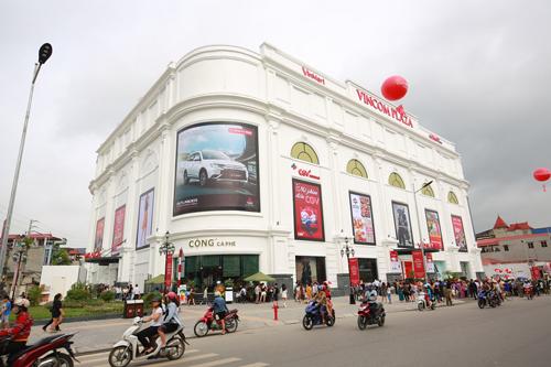 Vincom Plaza Thái Nguyên nổi bật giữa trung tâm thành phố.