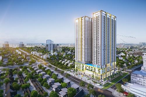 Chuyên gia nhận định căn hộ có giá vừa túi tiền đa số người mua vẫn có sức tiêu thụ tốt trên thị trường. Ảnh phối cảnh Phú Đông Premier.