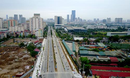 Một tuyến đường tại Hà Nội được xây dựng theo hình thức BT. Ảnh: Bá Đô