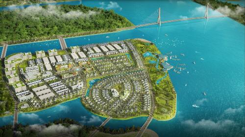 Phối cảnh tổng thể Khu đô thị sinh thái ven sông King Bay