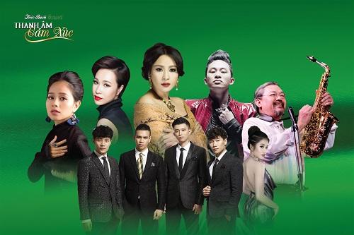 Trúc Bạch concert  Thanh âm cảm xúc với sự góp mặt của các ca sĩ, nhạc sĩ như Quốc Trung, Thanh Lam, Tùng Dương, Uyên Linh...