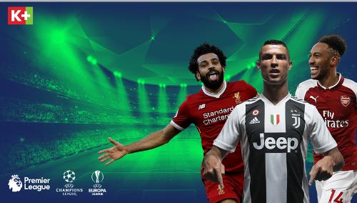 Khán giả có thể xem Ngoại hạng Anh, Champions League, Europa League được phát sóng trực tiếp trọn vẹn duy nhất trên các kênh K+.