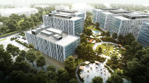 Phối cảnh tổng quan toàn dự án OneHub Saigon.