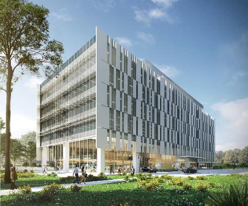 Tháp văn phòng Tower 1 thuộc dự án OneHub Saigon.