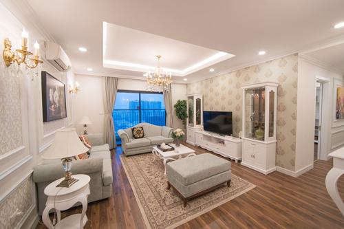 Những căn hộ 3 phòng ngủ ở TNR Goldmark City được thiết kế thông minh và diện tích linh hoạt.