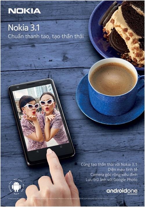 Nokia 3.1 là chiếc điện thoại nằm trong tầm giá rẻ.