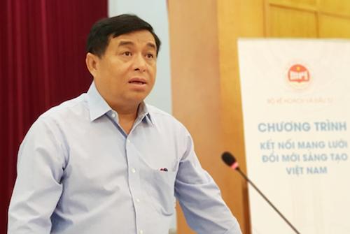 Ông Nguyễn Chí Dũng, Bộ trưởng Kế hoạch và Đầu tư phát biểu tại cuộc họp báo ngày 9/8. Ảnh: Anh Minh