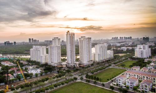Khu Phú Mỹ Hưng, TP HCM, nơi đã từng là tâm điểm thu hút nhà đầu tư Hàn Quốc về đây sinh sống, làm việc. Ảnh: Lucs Nguyễn