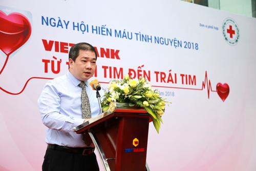 Ông Hồ Phan Hải Triều - Phó Tổng Giám đốc Vietbank phát biểu