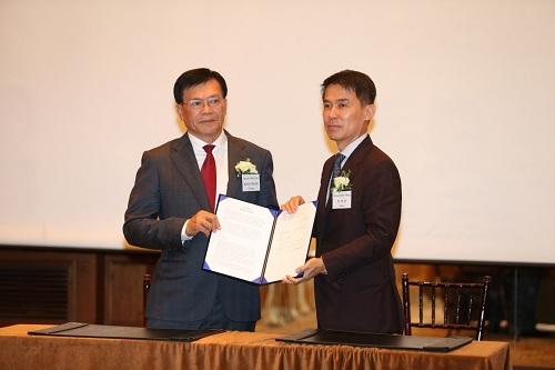 Đại diện Tập đoàn DIC và Heerim Architects and Planners ký kết biên bản ghi nhớ.