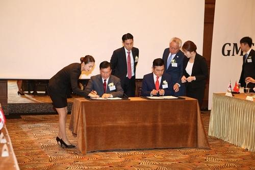Đại diện tập đoàn DIC và GMG Holdings ký kết quyết định thành lập Công ty liên doanh DIC.