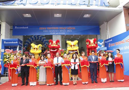 Lễ khai trương chi nhánh Sacombank Bình Tân.