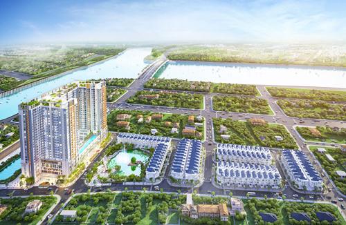 Green Star Sky Garden là dự án mới nhất và hút khách nhất của Hưng Lộc Phát tại Nam Sài Gòn. Ảnh phối cảnh dự án.