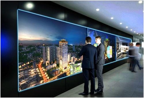 Sàn tương tác ảo giúp khách hàng dễ dàng tìm hiểu thông tin.
