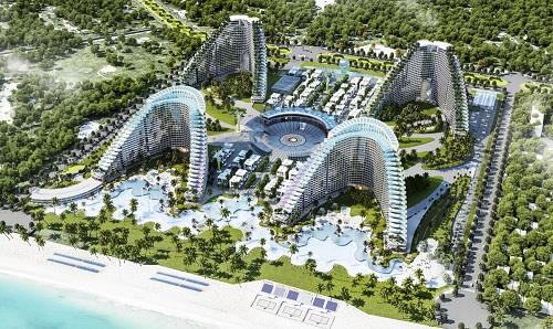 Khán đài The Arena nổi bật trên phối cảnh dự án. Chủ đầu tư: Công ty CP Đầu tư Xây dựng Vịnh Nha Trang Hotline 1800 54 54 77 Website www.thearena.vn