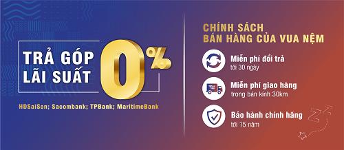 Vua Nệm còn cung cấp dịch vụ bán hàng trả góp lãi suất 0%.