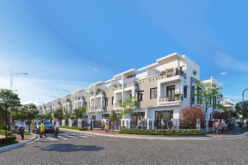 Viva Park có mức giá 1,8 tỷ đồng một căn nhà phố sân vườn xây sẵn gồm một trệt 2 lầu.