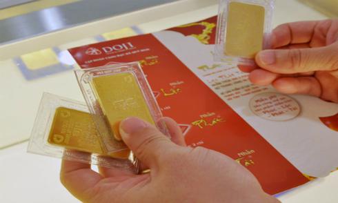 Giá vàng miếng trong nước giảm phiên thứ 2 liên tiếp.