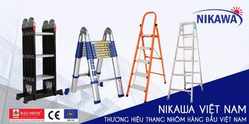 Thang nhôm cao cấp Nikawa là một trong những mặt hàng mũi nhọn của Nikawa Việt Nam.