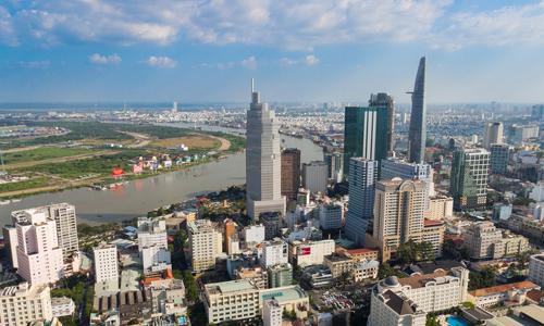 Khu lõi trung tâm TP HCM, nơi tập trung các bất động sản hạng sang. Ảnh: Vũ Lê