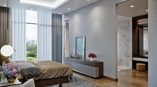 Các căn phòng có hướng nhìn thoáng đãng ra không gian xanh rộng lớn bên ngoài.