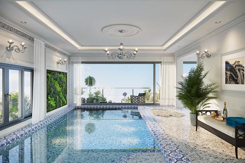 Trên tầng 4 của biệt thự thương mại Imperia Garden, chủ đầu tư thiết kế bể bơi rộng rãi, hiện đại với tầm nhìn khoáng đạt.Mang hơi thở của con phố Milan sôi động mà sầm uất, đẳng cấp và văn minh, shop villa Imperia Garden hứa hẹn sẽ đem đến cộng đồng sống thượng lưu giữa trung tâm Hà Nội, đại diện chủ đầu tư cho hay.