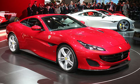 Siêu xe mới Ferrari Portofino tại triển lãm Frankfurt 2017. Ảnh: Carscoops.