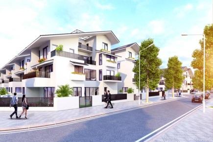 Biệt thự song lập Iris Homes được thiết kế hiện đại.