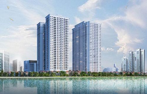 Phối cảnh tổng quan dự án Ecolake View (số 32 Đại Từ, Hoàng Mai, Hà Nội).