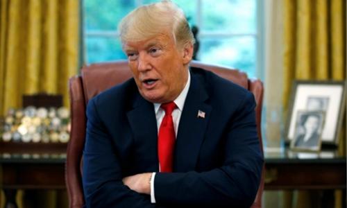 Tổng thống Trump trong cuộc phỏng vấn với Reuters hôm qua. Ảnh: Reuters