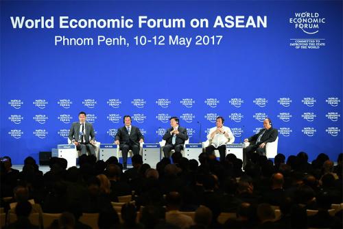 Diễn đàn Kinh tế Thế giới về ASEAN diễn ra ở Phnom Penh năm 2017. Ảnh: WEF