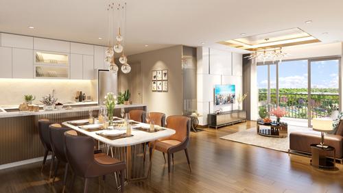 Các căn hộ tại Eco-Green Saigon có thiết kế thoáng rộng, trang bị nội thất cao cấp.
