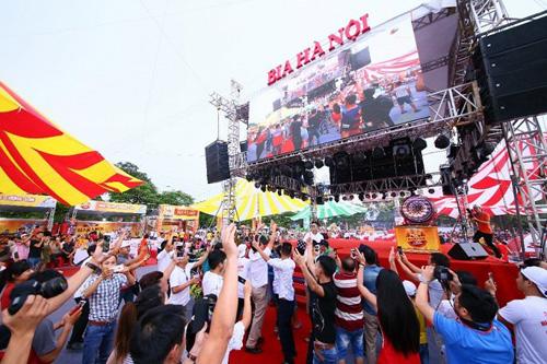 Lễ hội Bia Hà Nội diễn ra vào ngày 3/8/2018 tại Nam Định.
