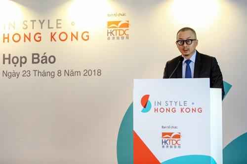 ông Peter Wong - Giám đốc vùng Đông Nam Á và Nam Á của Hội đồng Phát triển Thương mại Hong Kong