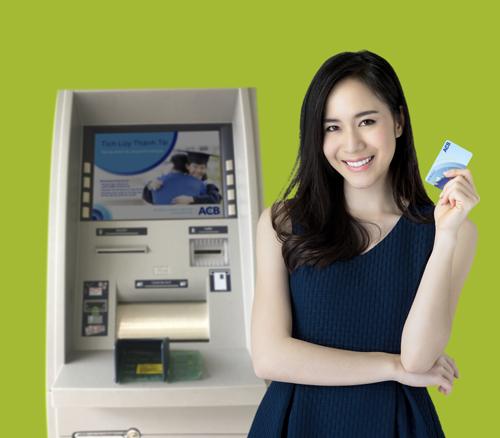 Máy nộp - rút tiền tự động của ACB.