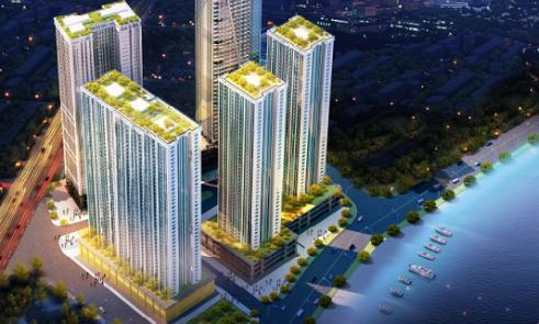 Phối cảnh toàn cảnh Tổ hợp Chung cư cao cấp Khách sạn Mường Thanh Viễn Triều
