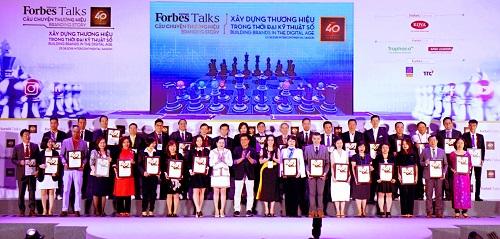 Forbes tổ chức vinh danh 40 thương hiệu giá trị nhất Việt Nam năm 2018.