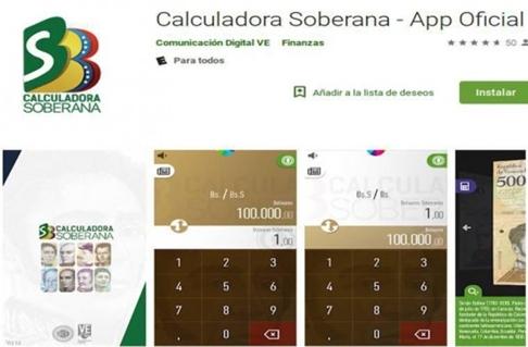 Ứng dụng Calculadora Soberana giúp người Venezuela đổi tiền.