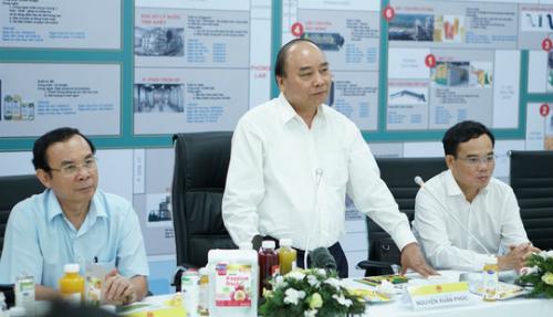 Thủ tướng Nguyễn Xuân Phúc thăm và làm việc tại Nhà máy Tanifood.