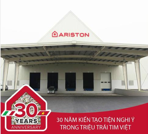 Ariston chinh là một trong những thương hiệu bình nước nóng đầu tiên có mặt tại thị trường Việt Nam.
