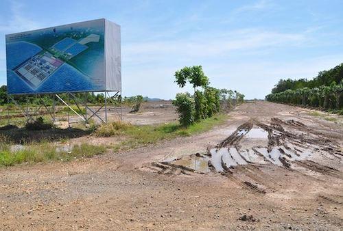 Dự án Nhà máy Nhiệt điện Kiên Lương 1 vẫn là bãi đất trống.