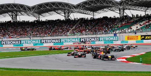 Một vòng đua F1 tại trường đua Sepang (Malaysia). Ảnh: f1destinations