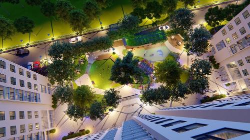 Dự án có không gian xanh rộng lớn, góp phần tạo môi trường sống trong lành.