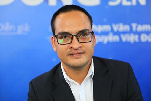 ông Nguyễn Việt Đức - Tổng giám đốc Innovation Capital Management - ICM (phải) tại Tòa soạn Báo VnExpress. Ảnh: Hữu Khoa.