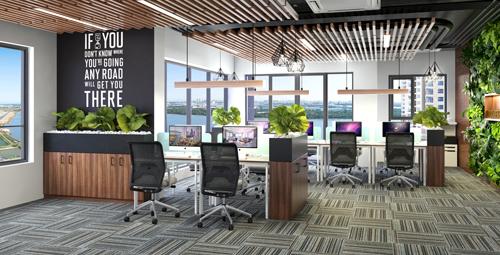 Mô hình Office-tel tại tòa tháp Canary, Diamond Island.
