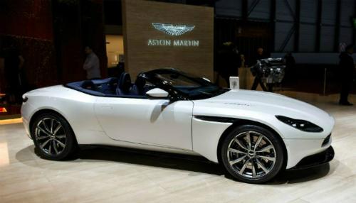 MẫuDB11 trưng bày tạiGeneva International Motor Show lần thứ 88.Ảnh: AFP